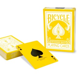 Yellow Reversed Playing Cards