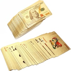 Gold Money Playing Cards